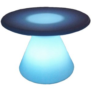 +LUM113 Coffe Table shown lit in blue