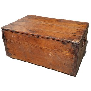 VIN256 Wooden Chest Vintage side