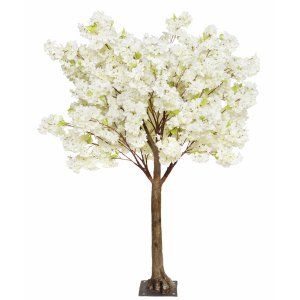 Cream cherry blossom tabletop tree web