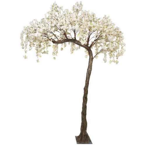 PLA615 Cream hanging cherry blossom half canopy tree
