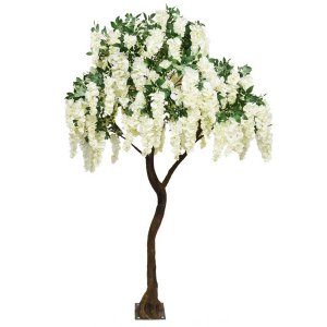 PLA622S Standard Tree with Short Cream Wisteria Branches