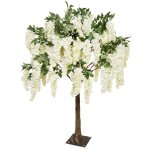 PLA623S Tabletop Tree with Short Cream Wisteria Branches