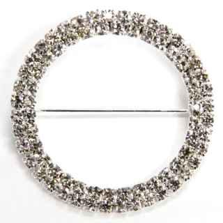 LIN052 Napkin Sash Buckle Diamante Round