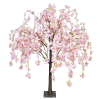 Pink hanging cherry blossom tabletop tree web
