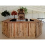 Rustic bar full set up with central display shelving