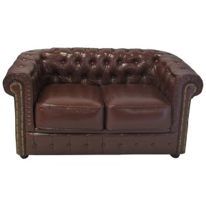 +FUR400BR Chesterfield Brown 2 seater