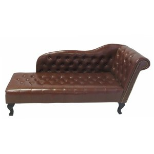 FUR623 Chaise Longue Brown