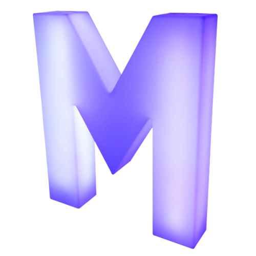 Lumaform letter M
