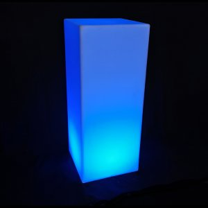 LUM158 LED Plinth shown lit in blue