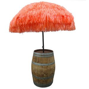 +CAR201O Raffia in Orange with Barrel