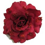 CHR503.1 Red Rose Flower Clip 10cm