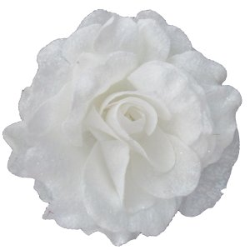CHR503W White Rose Clip