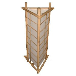 +CHI203A Bamboo Oriental Screen Lamp