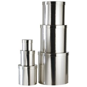 +CHO202S Round Boxes in Silver