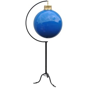 +CHR206B Giant Blue Bauble on stand