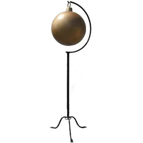 +CHR207G Large Xmas Ball Gold Glitter