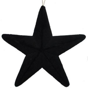 +CHR335 Flocked Black Star