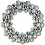 +CHR345S Silver Bauble Wreath