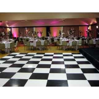 Black & White Chequered Floor