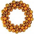 +CHR345G Gold Bauble Wreath