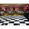 Black & White Chequered Floor