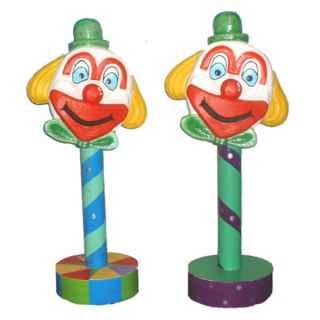 +CIR200A 3D Clowns Head on Pole