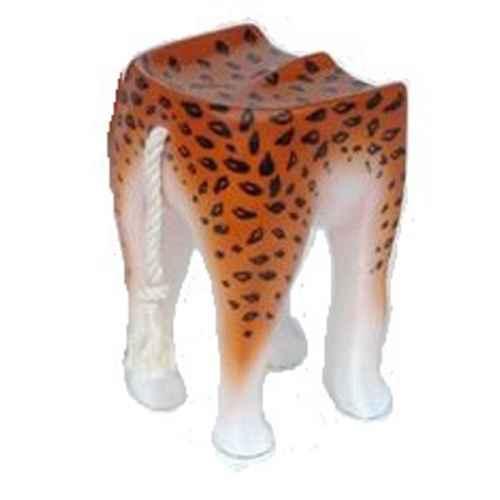 FUR351 Leopard Stool